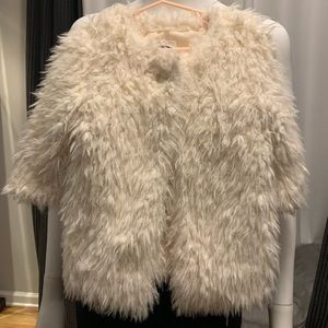 Gently Loved Faux Fur Furry Toddler Jacket Coat